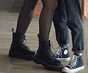 converse, couple, and dr martens image