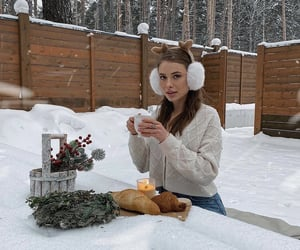 Chick, classy, and snow image