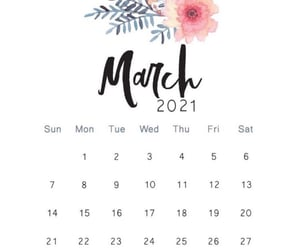 calendar, march, and wallpapers image