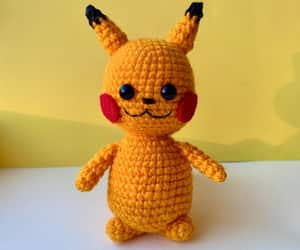 crochet toy, stuffed doll, and i choose you image