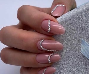 aesthetic, nail art, and rosa image