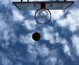 ball, sky, and Basketball image