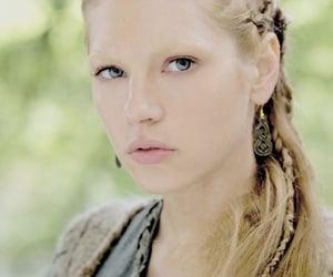 blue eyes, lagertha, and viking hairstyle image