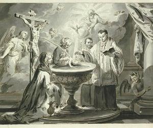 Baptism, priest, and priesthood image