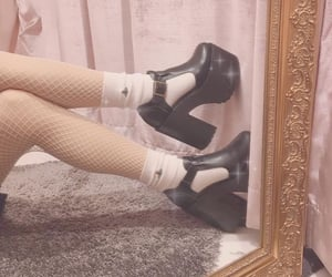 mirror, platforms, and shoes image