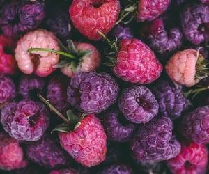 fruit, raspberry, and purple image