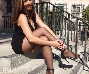 high heels and pantyhose image