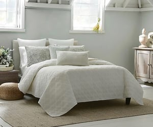beautiful, bed, and bedding image