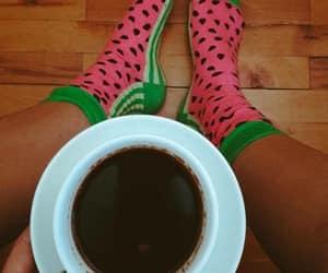 cofee, socks, and watermelon image