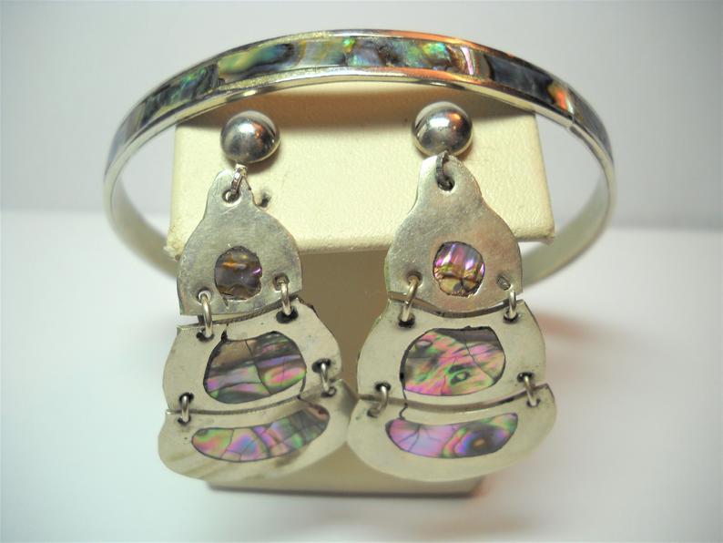 etsy, bracelet earring set, and vintage jewelry image