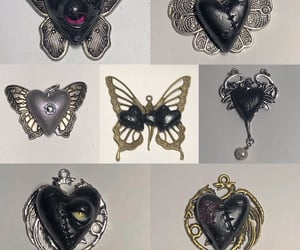 earrings, goth, and jewelry image