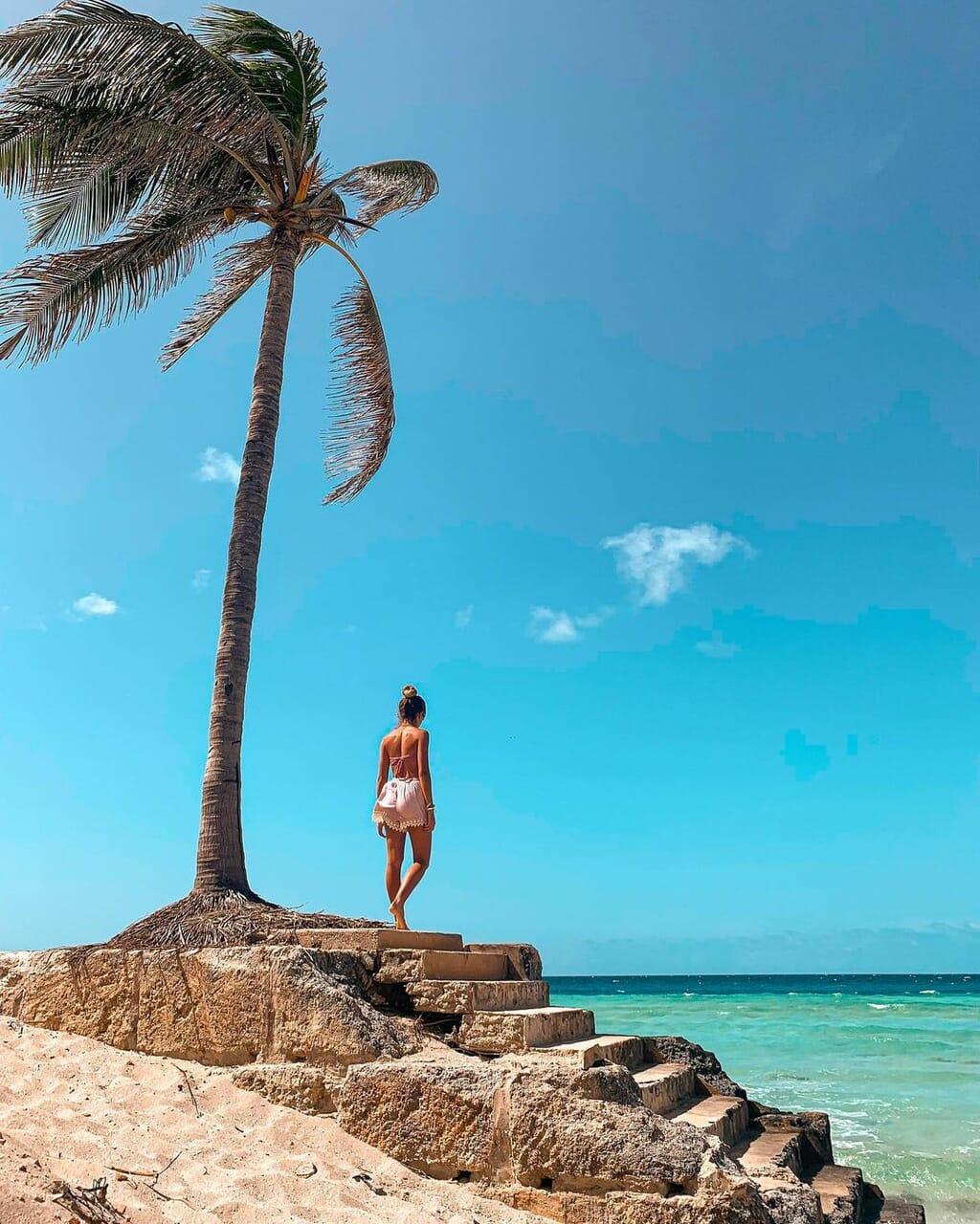 beach, blue, and cuba image