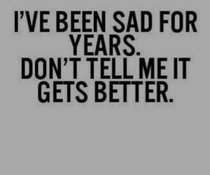 sad, quotes, and depression image