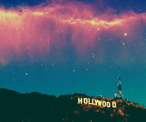 hollywood, sky, and stars image
