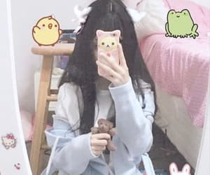 asian, aesthetic, and cat ears image