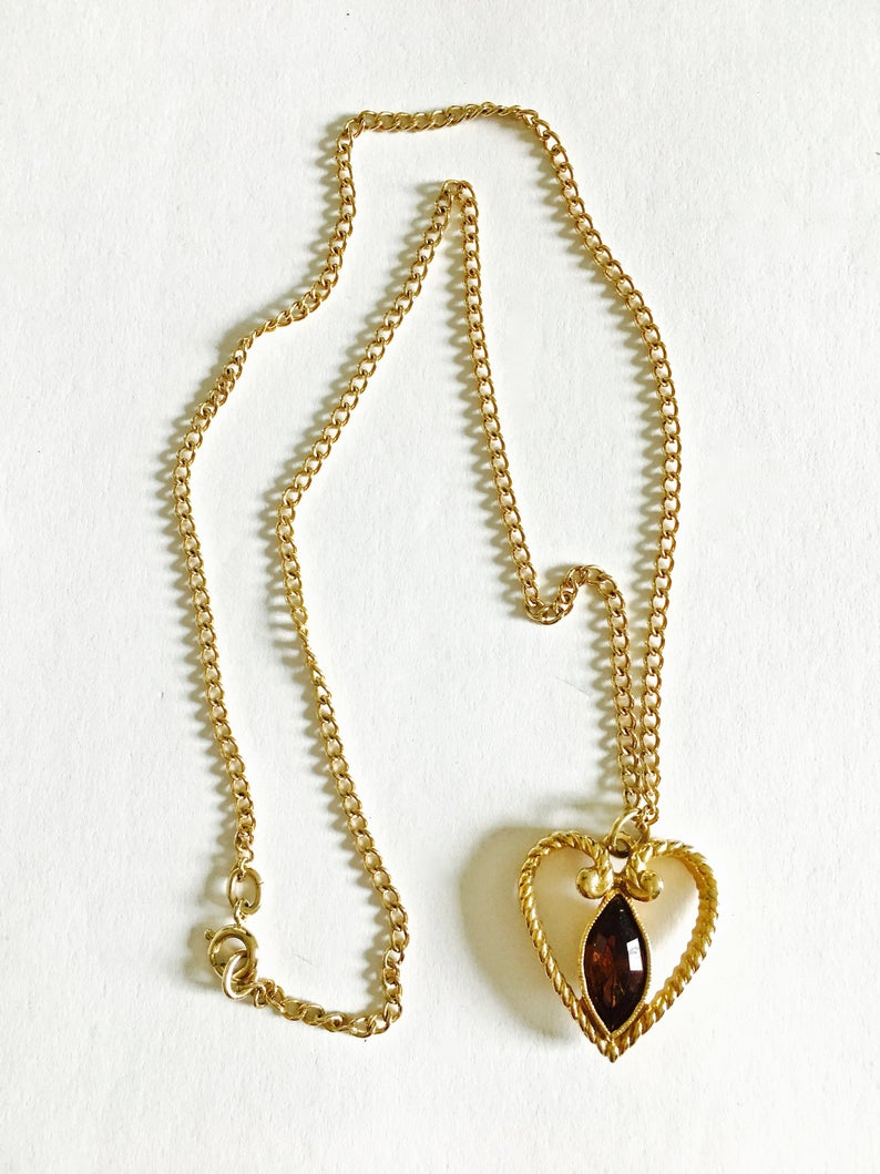 etsy, heart pendant, and vintage avon image