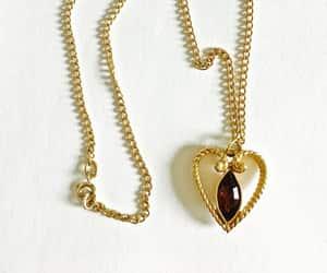 etsy, heart pendant, and avon vintage jewelry image