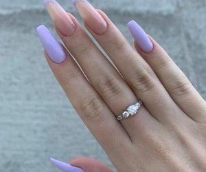 nails, fashion, and lilac image