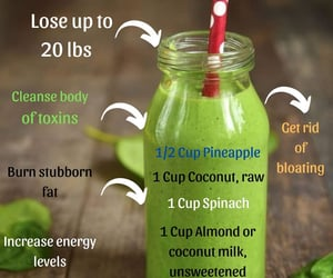 fat loss, smoothie recipe, and green smoothie image