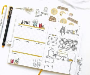 journal, note, and bujo image