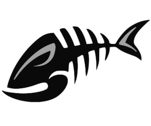 bones, clipart, and fish image