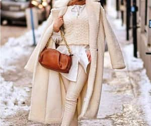 coat, trench coat, and furry coat image