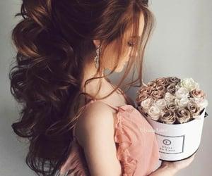 cute girl, beauty, and dress image