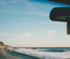sea, beach, and car image