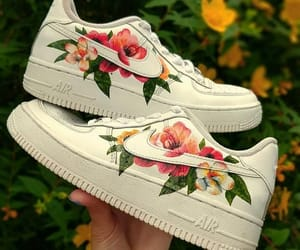 Hand Painted Air Force 1 Floral Design