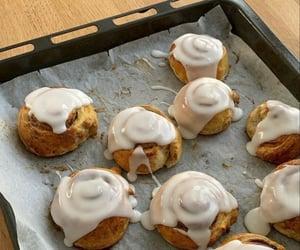 food, baked, and cinnamon rolls image