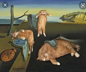 art, surrealism, and cat image