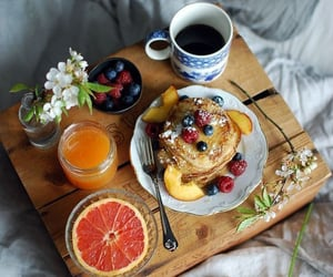 pancakes, food, and FRUiTS image