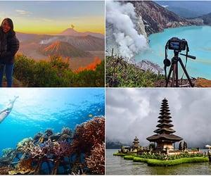 mountain, travel, and bali image