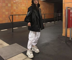 chunky shoes, subway, and everyday look image