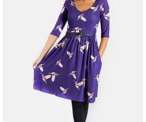 fashion, dresses, and hummingbirds image