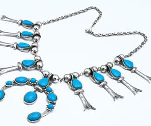 statement necklace, southwestern, and squash blossom image