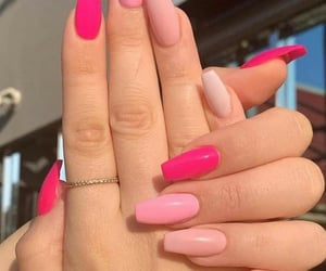 fashion, manicure, and pink image