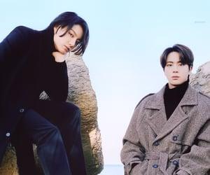 bts, seokjin, and yoongi image