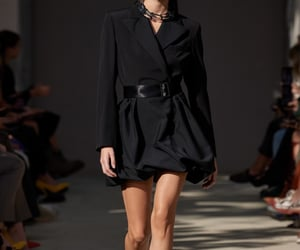 black dress, fashion, and fashion show image
