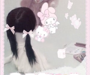 aesthetic, pigtails, and soft image