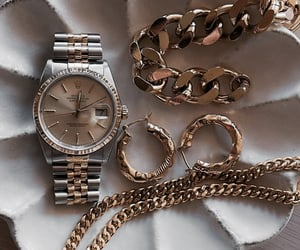 accessoires, golden, and watch image