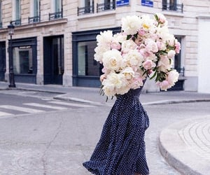 clothes, flowers, and girl image
