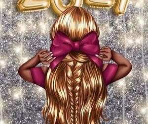 2021, calendar, and girls image