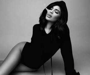 black and white, kylie jenner icons, and black and white photography image