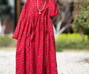 etsy, red long dress, and flare dress image