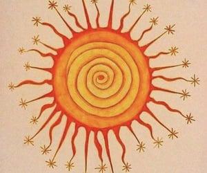 sun, art, and drawing image
