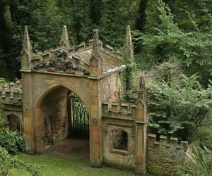 antique, green, and casttle image