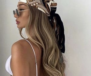blond hair, blonde, and fashion image