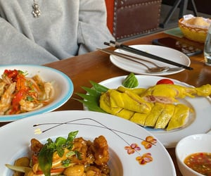 china, meal, and food image