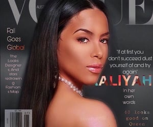 aaliyah, iconic, and vogue image